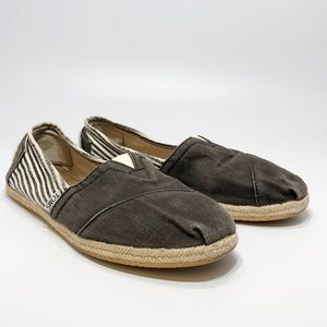 TOMS Womens Espadrille Slip On Loafer Flats size 8
